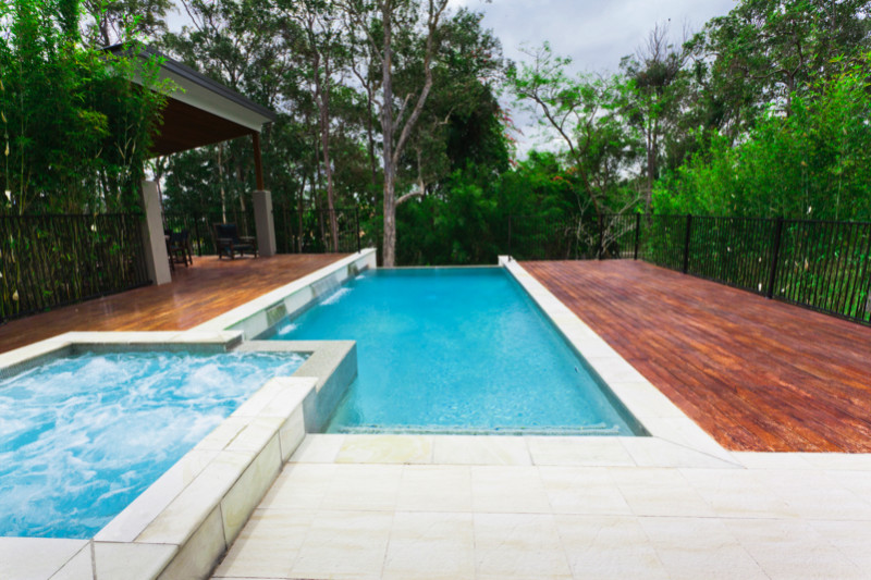 Beautiful bush setting home with spectacular lap pool and spa e1429394974763 - Amazing Luxurious Glistening Swimming Pools