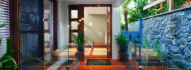Beautiful entranceway to modern contemporary home