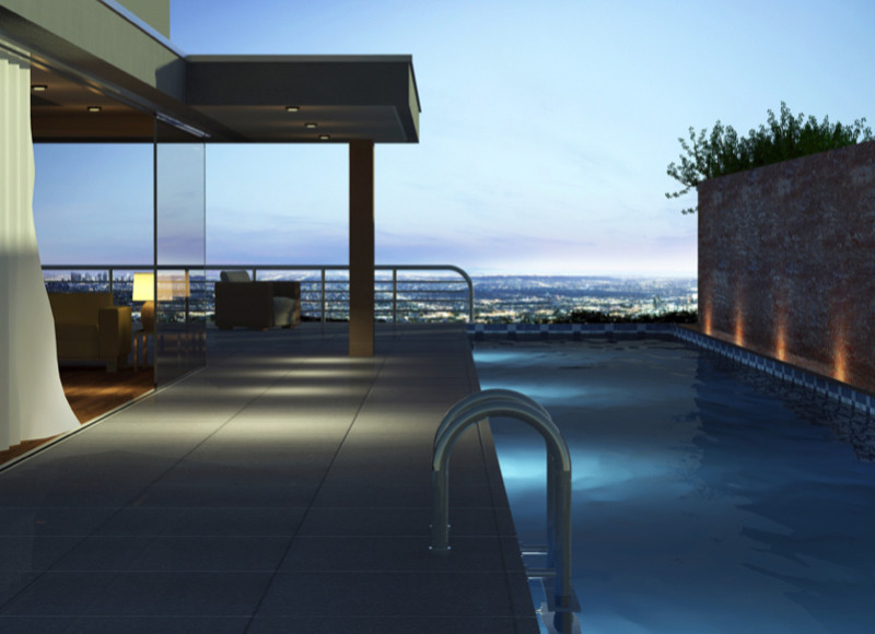 Contemporary home a view and a lap pool e1429395699563 - Amazing Luxurious Glistening Swimming Pools