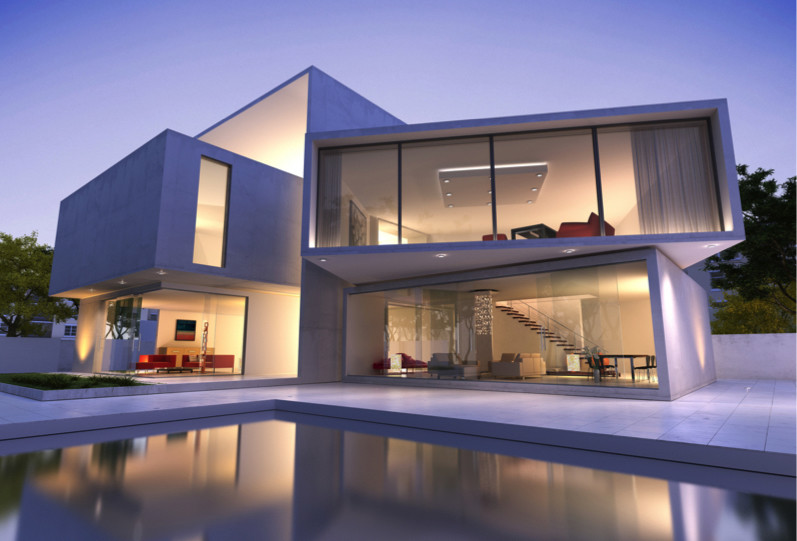 Contemporary house with pool m 800x600 e1428792469207 - Large Modern Architectural Contemporary Homes to Die For
