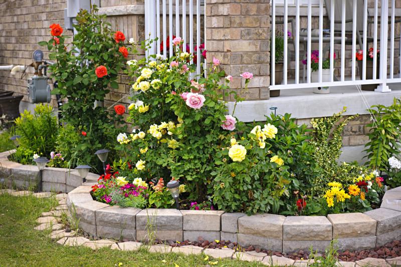 depositphotos 11551191 m e1429813551804 garden and backyard retaining walls - Backyard Rose Garden