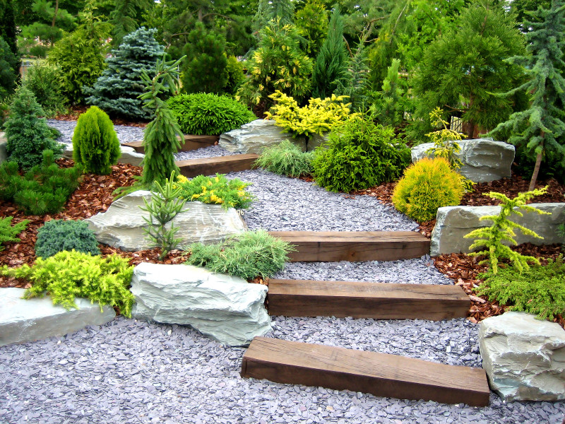 Bon Stunning Visually Effective Landscaped Backyard Garden Areas