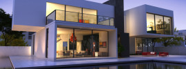 External view of a very desirable contemporary home