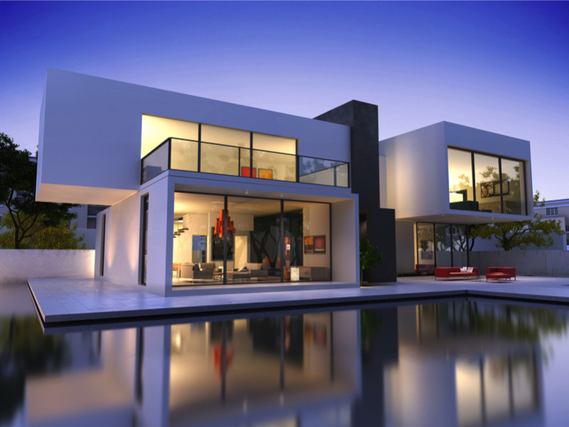 Large modern architectural contemporary homes to die for for Contemporary homes images