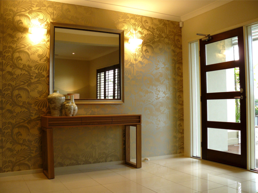 Home front entrance doors and humble entrance ways for Wallpaper for home entrance