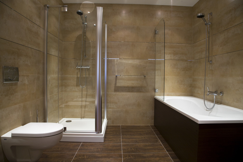 Examples of simple modern bathroom interiors Simple contemporary bathroom design
