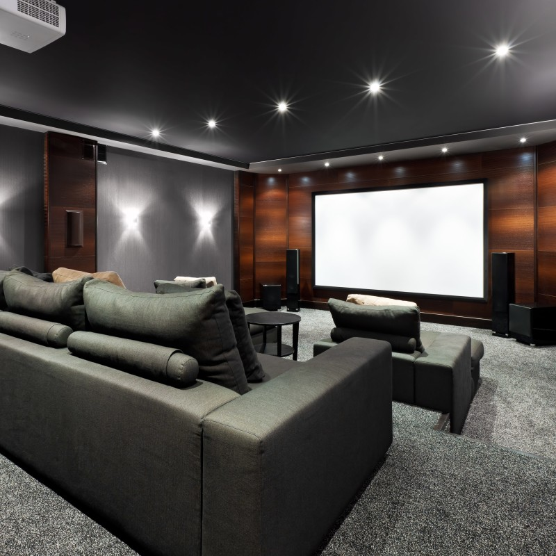 media room design ideas showing an interior of luxury dedicated home