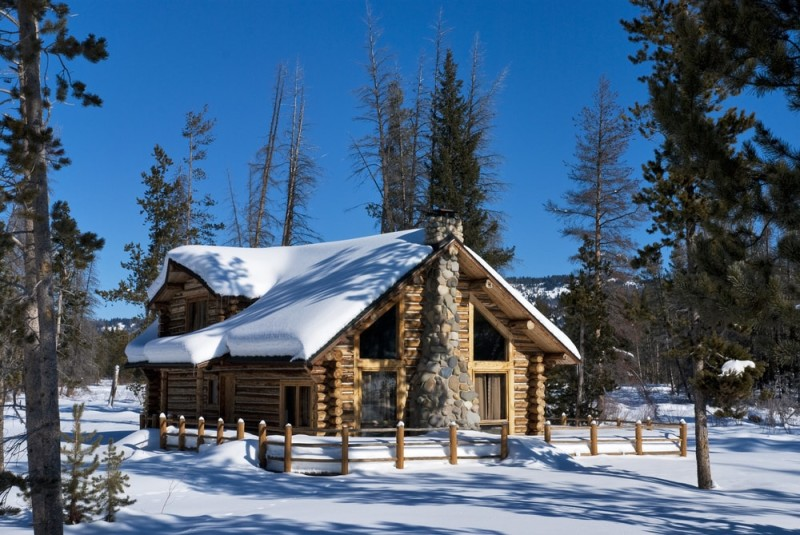 Image Gallery snow covered cabin