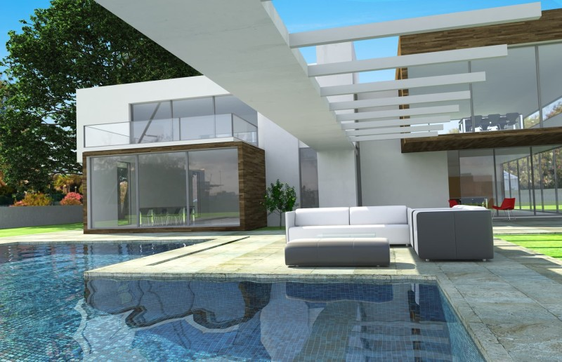 Beautiful modern homes and modern architectural house design for Modern mansion with pool