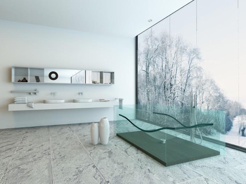 Interior Designs For Bathrooms With Modern Bathroom Tub