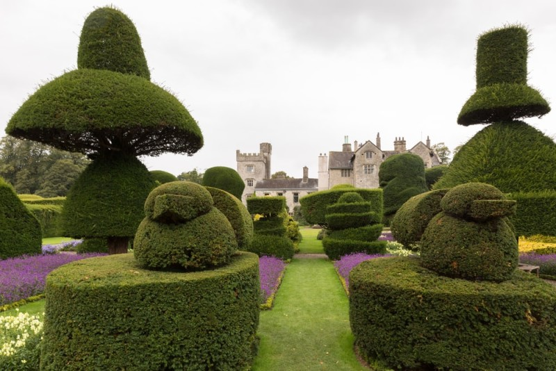 English country topiary art garden with many different interesting shapes