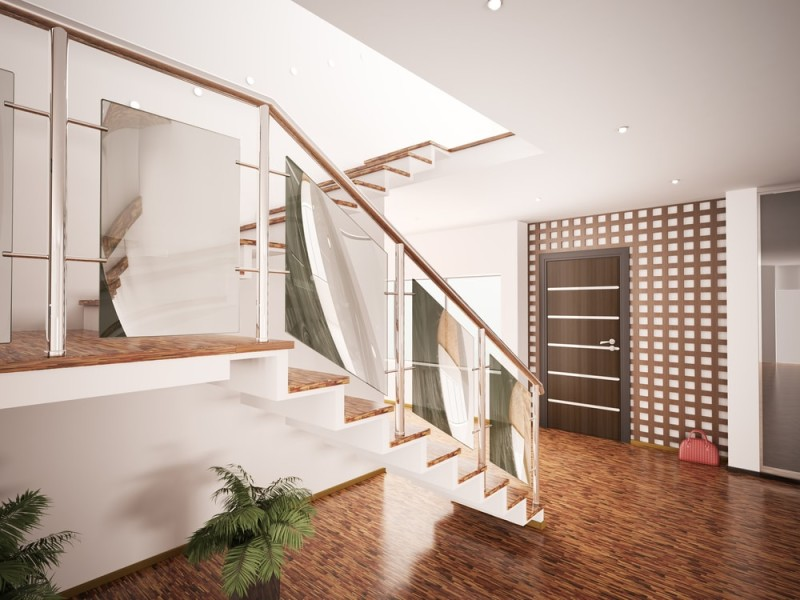 Modern home staircase designs for Modern entrance hall