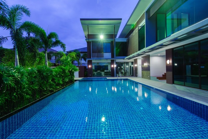 House Under Pool 31 visually stunning swimming pool lights at night