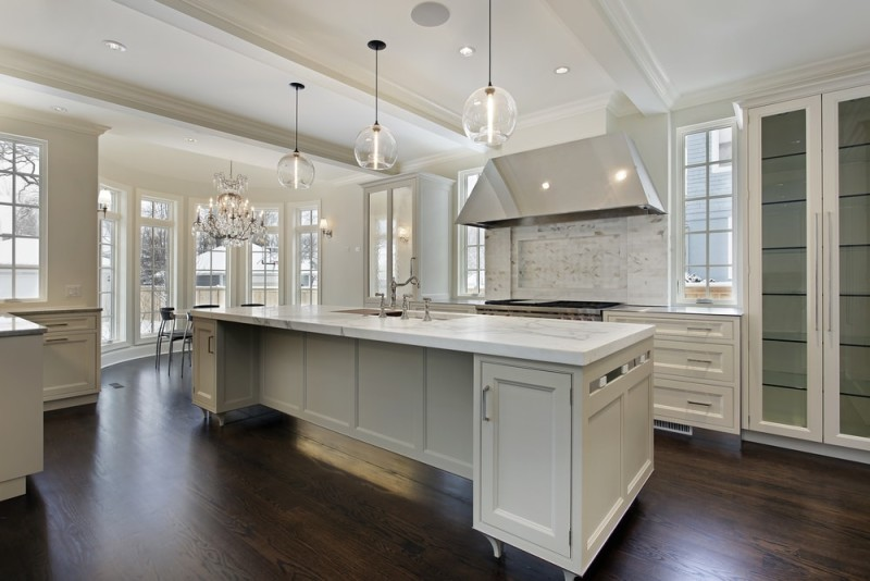 Kitchen Island Against Wall Is One Layout That And Decorating Ideas