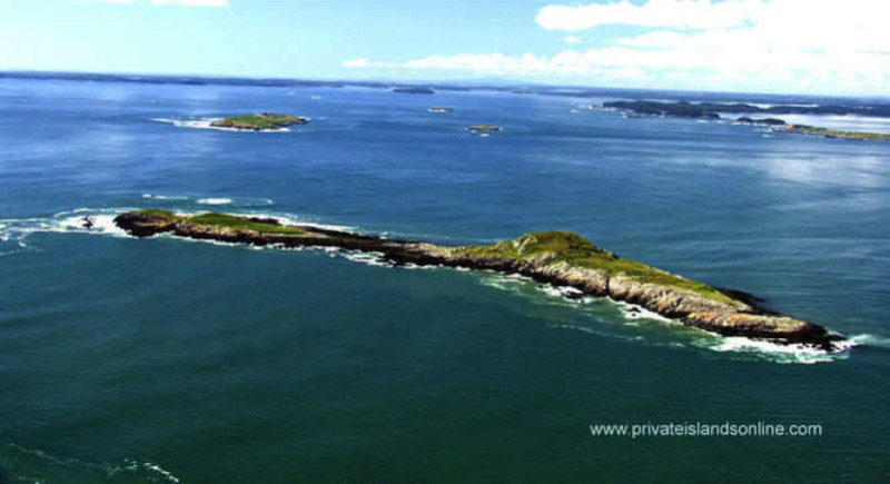 Scabby Island Chain Maine USA e1433882575691 - Private Islands for Sale Under a Million Dollars