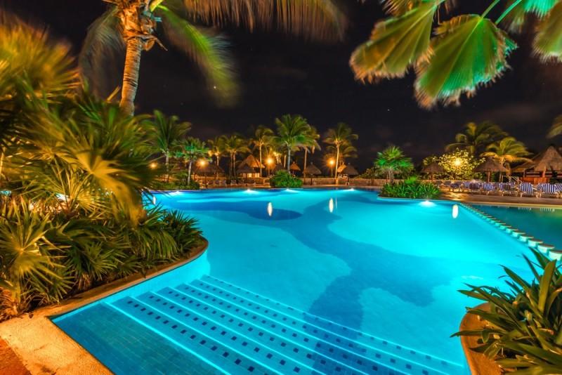 31 visually stunning swimming pool lights at night - Resorts in diveagar with swimming pool ...