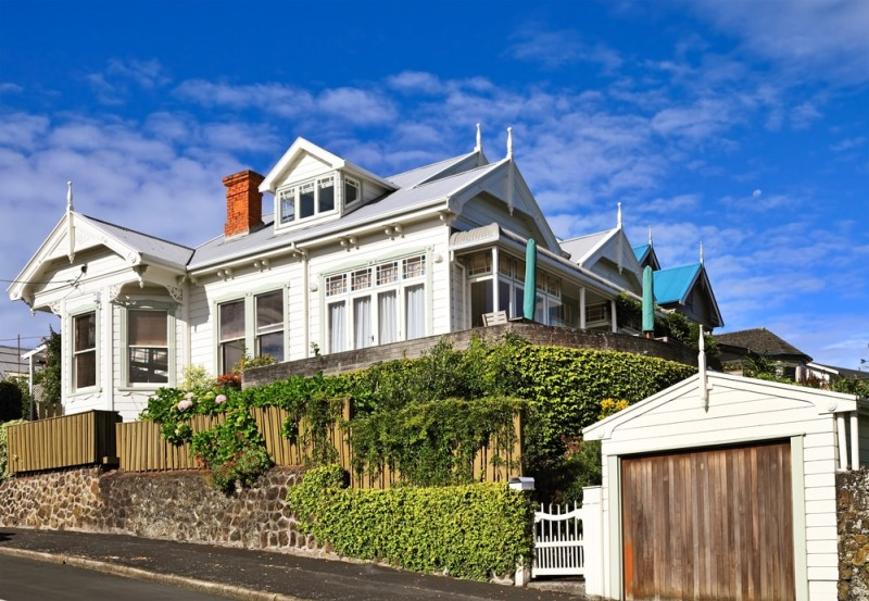 Late nineteenth century wooden victorian house in auckland new zealand