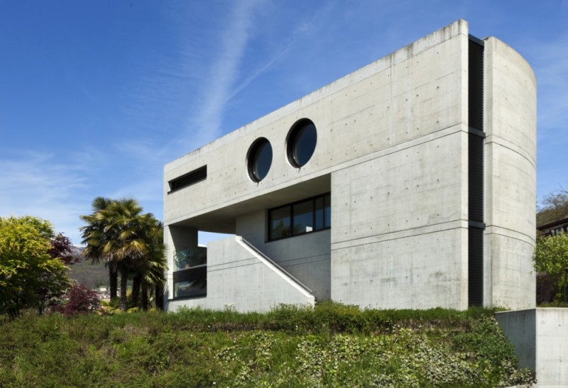 architectural house. Beautiful Modern Architectural Statement House Crafted From Cement