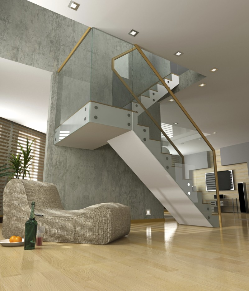 Staircase Decorating Ideas With Modern Design: Modern Home Staircase Designs
