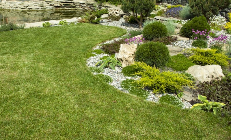 Landscape design ideas and garden design ideas for Formally designed lawn