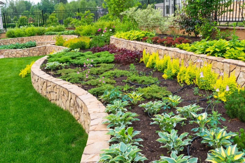 More landscape and garden design ideas and improving values for Tiered garden designs