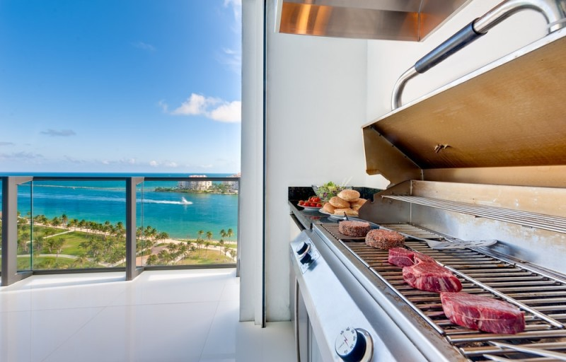 View of a barbecue in an luxury terrace with ocean view min e1438109743953 - Ideas for Outdoor Kitchens