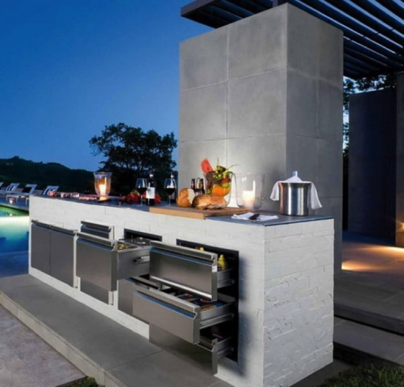 bbq outdoor kitchen designs. cool outdoor kitchen designs 18 800 source www digsdigs com min  Ideas for Outdoor Kitchens