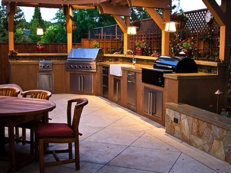 cool outdoor kitchen designs 48 Source www.digsdigs.com min - Ideas for Outdoor Kitchens