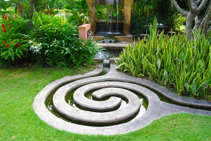 Amazing Garden Landscaped Water Feature Design Part 15