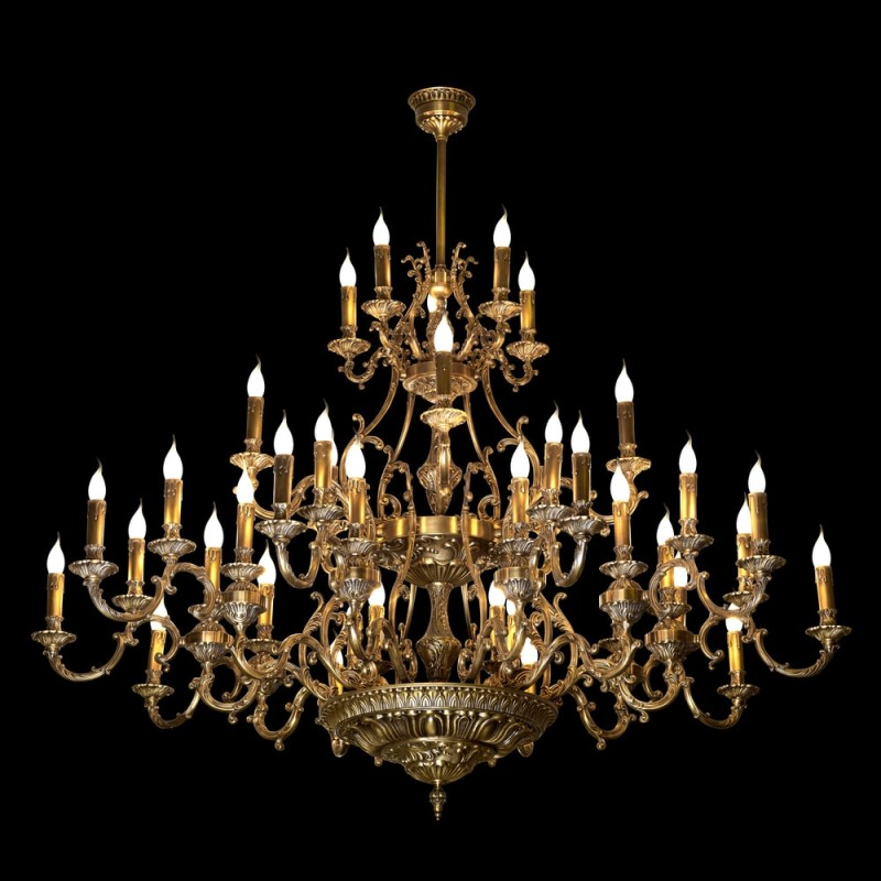 High end chandeliers and unique crystal chandeliers giant brass chandelier with look a like candle lights aloadofball Images
