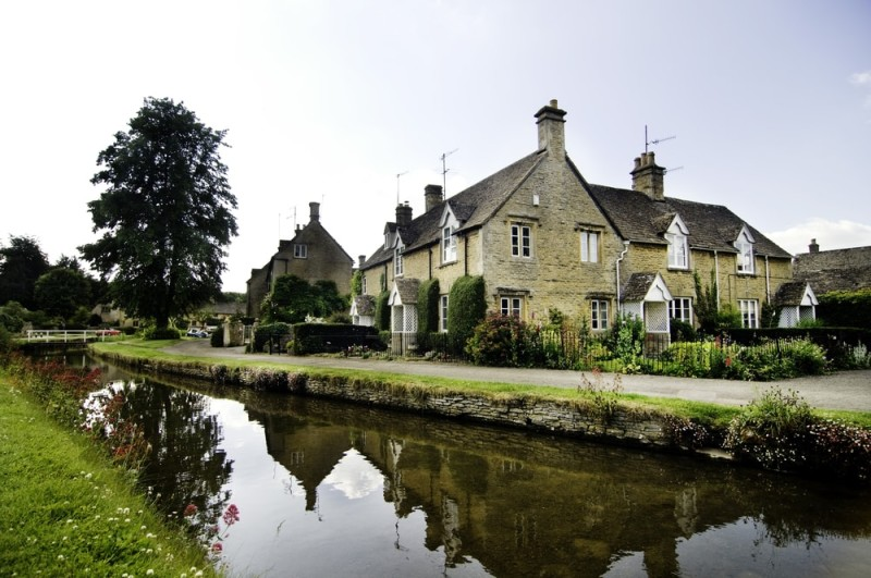 Example of English Countryside Cottages in Lower Slaughter