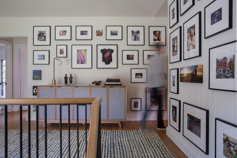 Top of stairway hall photography gallery