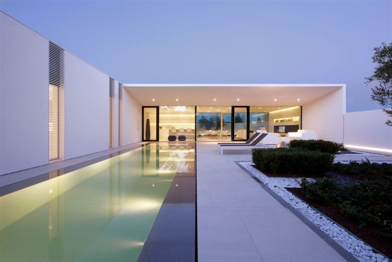 Architecture House Design of Jesolo Lido Pool Villa Italy