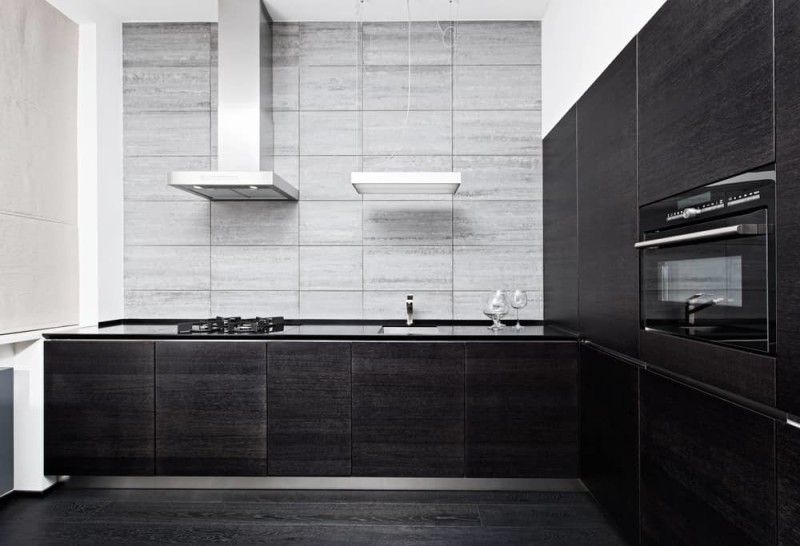 Part of modern minimalism style kitchen interior in monochrome tones min e1440195657974 - Striking Kitchen Backsplash Ideas & Pictures