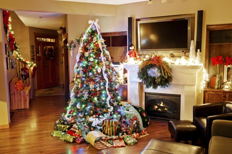 Rustic christmas tree decorating ideas - Christmas Decor For Home And Exterior Christmas Lights