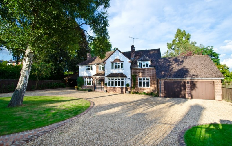 English countryside mansion house with attached double garage