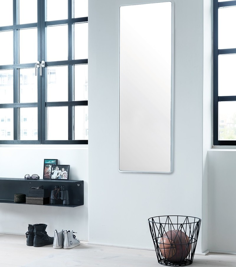 Entranceway with shelf and mirror from Vipp