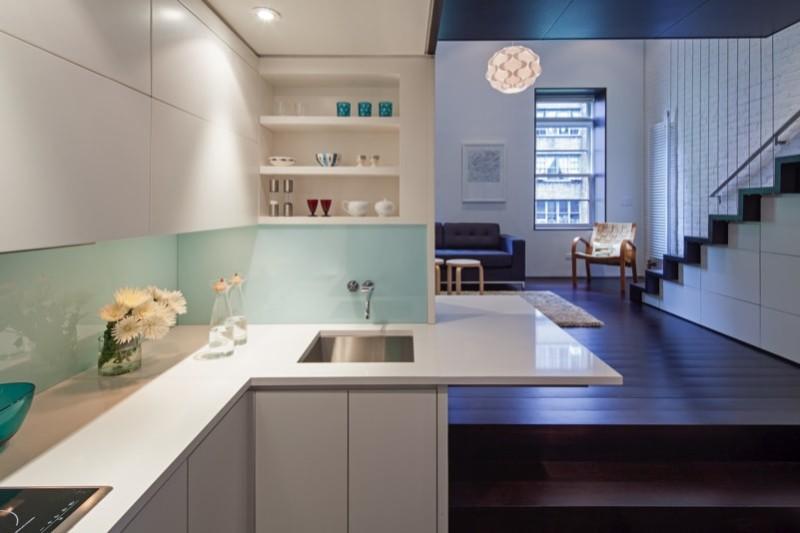 04 Kitchen min e1441432125790 - Manhattan Loft Apartment 425 sq ft Micro Apartment Renovation Project