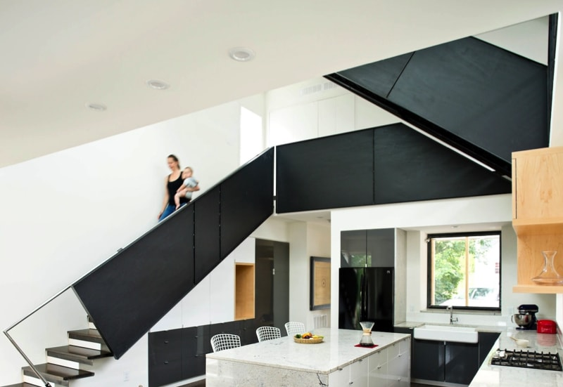 5.556 Central stair 10 sm min min - 556 Edenton Street House by The Raleigh Architecture Co