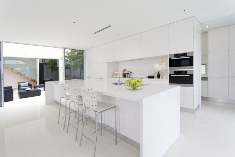 a beautiful white kitchen can provide a timeless stylish look
