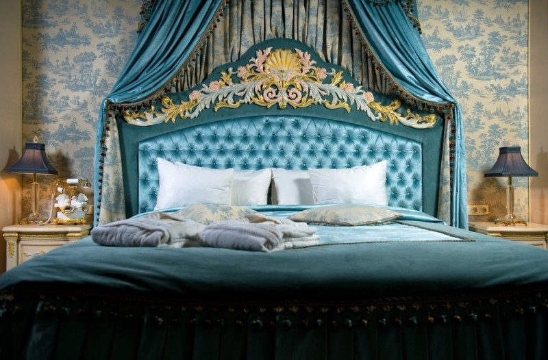Gold stage curtains - Bedroom Headboards