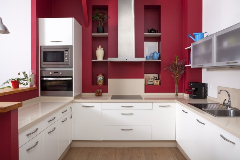 White Kitchen Feature Wall a beautiful white kitchen can provide a timeless stylish look