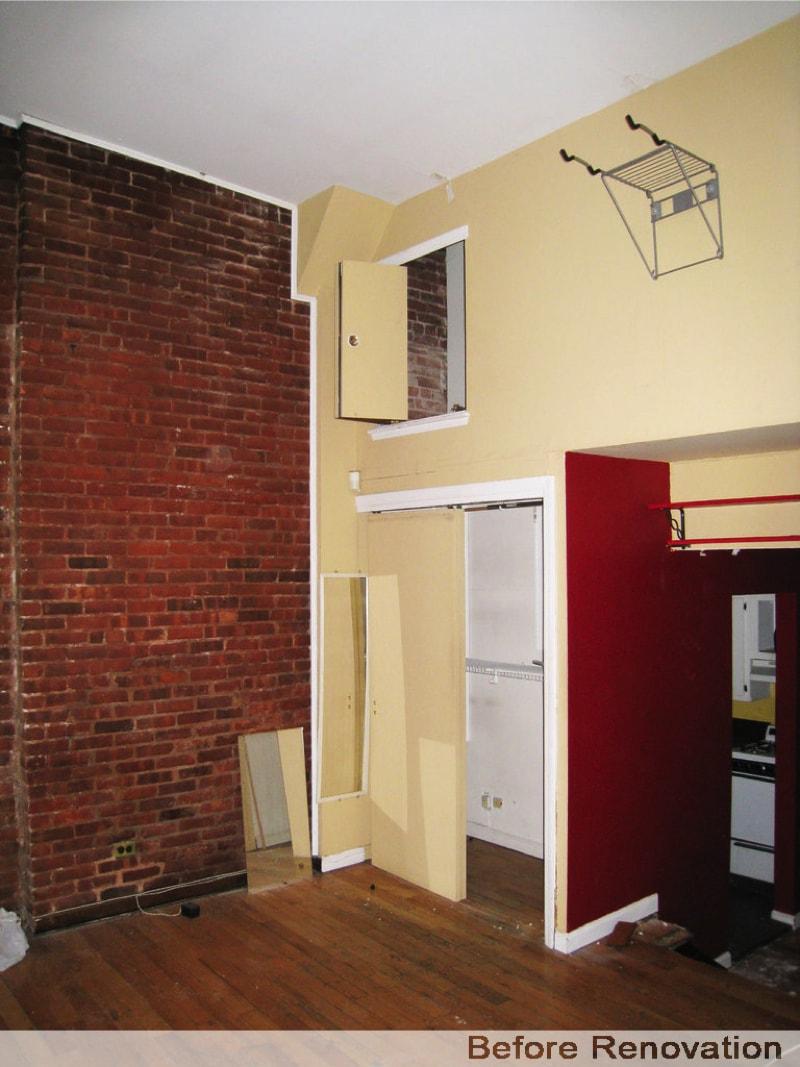 Full room height - Before Renovation
