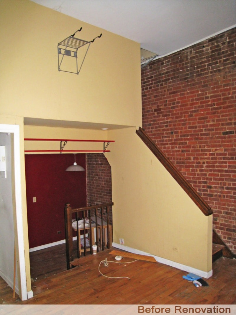 Entrance and Brick Wall -Before Renovation