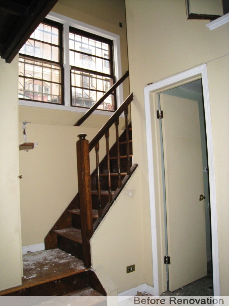 Stairs and Windows - Before Renovation