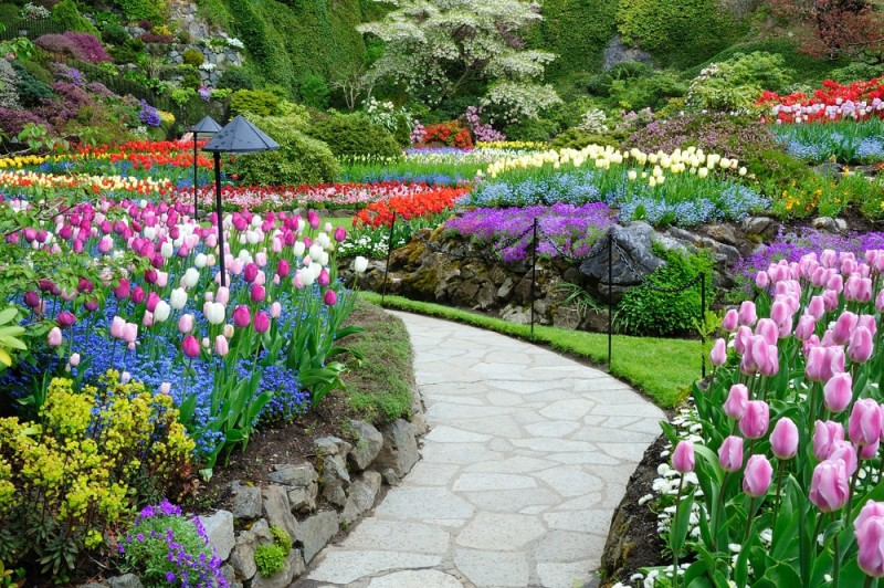 Home flower gardens and flower landscape pictures for Landscaping rocks victoria bc