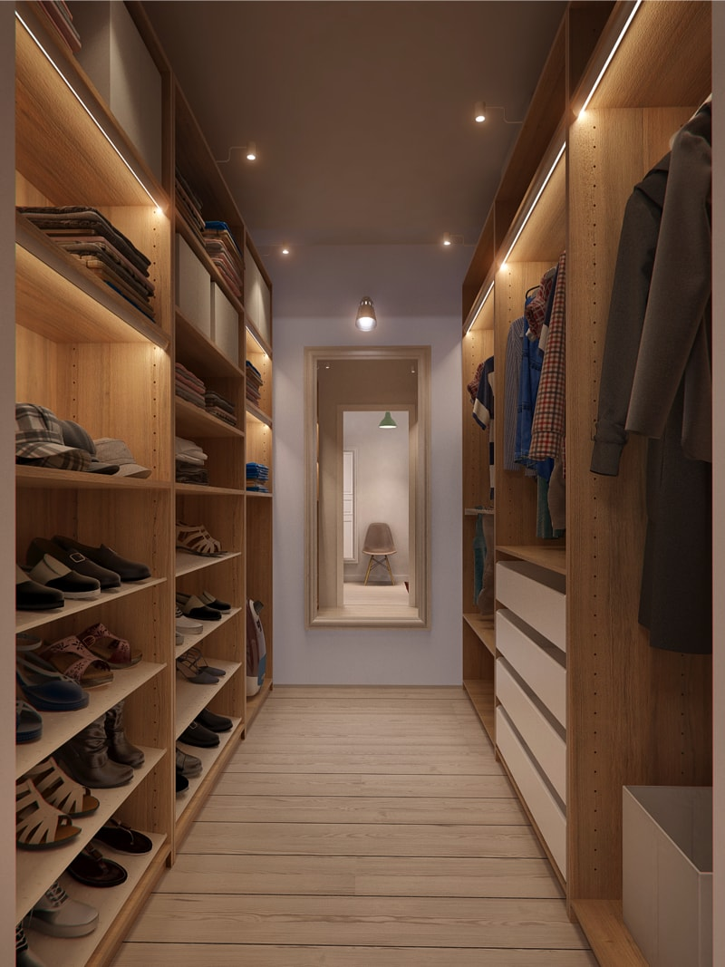 14 wardrobe1 min - Interior DI Project in St Petersburg, Russia by INT2architecture