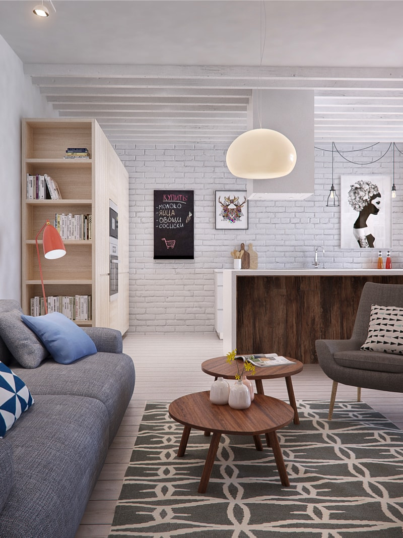 1  living room1 min - Interior DI Project in St Petersburg, Russia by INT2architecture