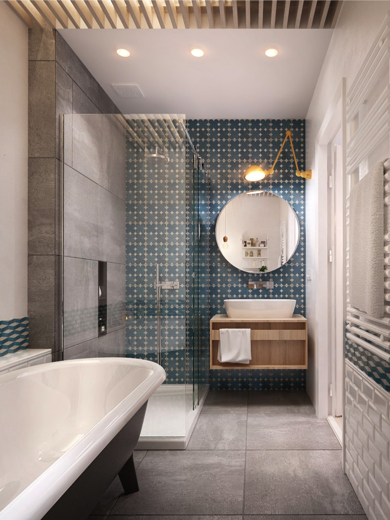 20 bathroom1 min - Interior DI Project in St Petersburg, Russia by INT2architecture