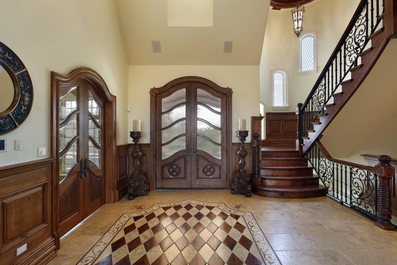 Foyer interior design and house entryway ideas Luxury design floors